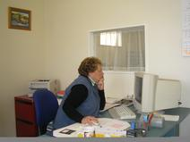 Pam hard at work early 2000